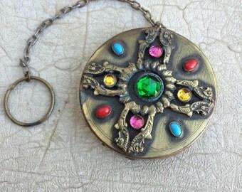 1920s jeweled compact