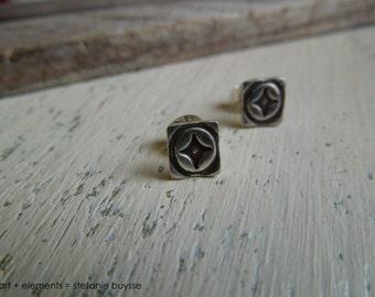Texas Star Handmade Artisan Post Earrings Sterling Silver