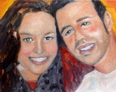Mickey and Lauren In Love 11 x 14 Painting of man and woman Original Oil Painting by Marlene Kurland Valentines Gift Portraits of Lovers