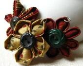 RESERVED - x3 Kanzashi Flower Pendants