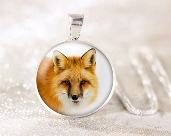 Sterling Silver Fox Necklace - Red Fox Jewelry, Sterling Silver Animal Jewelry, Genuine Silver Animal Necklace, Wildlife Jewelry, Fox Gift