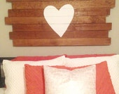 Heart Wood Pallet Art - Any Color - Made to Order