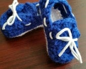 Baby Boat Shoes Crochet Booties Baby Top Siders 3-6 mos