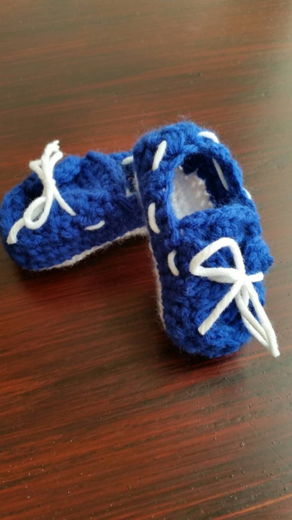 Crochet Pattern For Baby Boat Shoes : Baby Boat Shoes Crochet Booties Baby Top Siders 3-6 mos