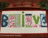 Appliqué Christmas Table Runner -  Free Shipping in Domestic US