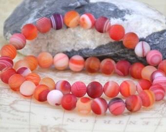 "8mm charm red agate strand round gemstone bead Full Strand 15"""