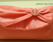 Silk Dupioni / Bridesmaid Clutches Choose your color  and amount Set of 4 / 5  or 6