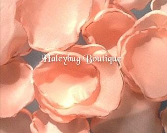 Peach Wedding Fabric Flower Petals, Bridal Shower, Wedding Receptions, Wedding Decorations,