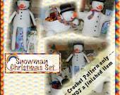 PDF Crochet Pattern Snowman Christmas Set