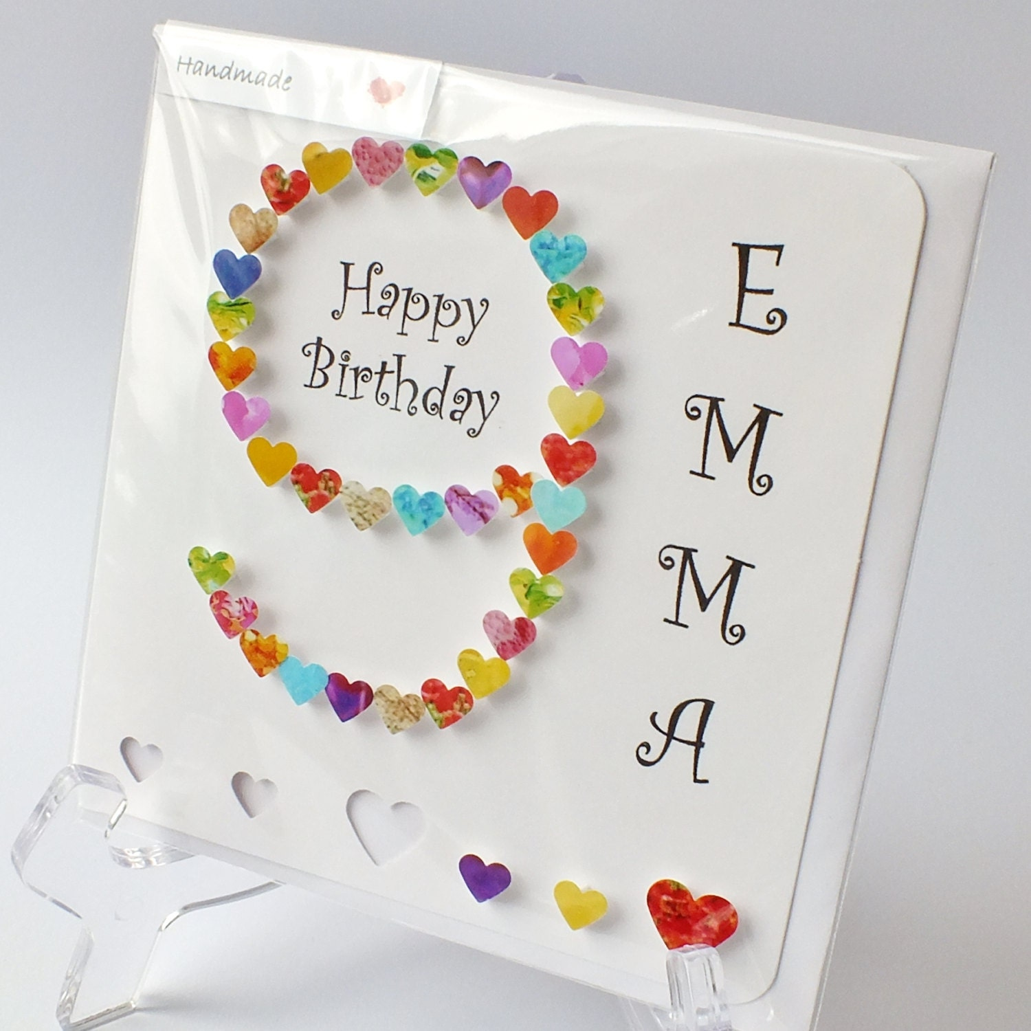 Handmade 3D 9 Card Personalised 9th Birthday Card