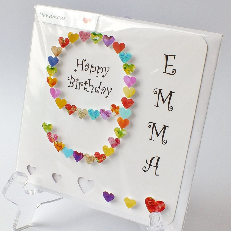 Handmade 3D 10th Birthday Card Personalised 10th Birthday