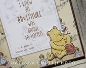 Winnie the Pooh Nursery Sign and Winnie the Pooh Quote- nursery decor, nursery sign, wood box sign, Winnie the Pooh print, honey, adventure