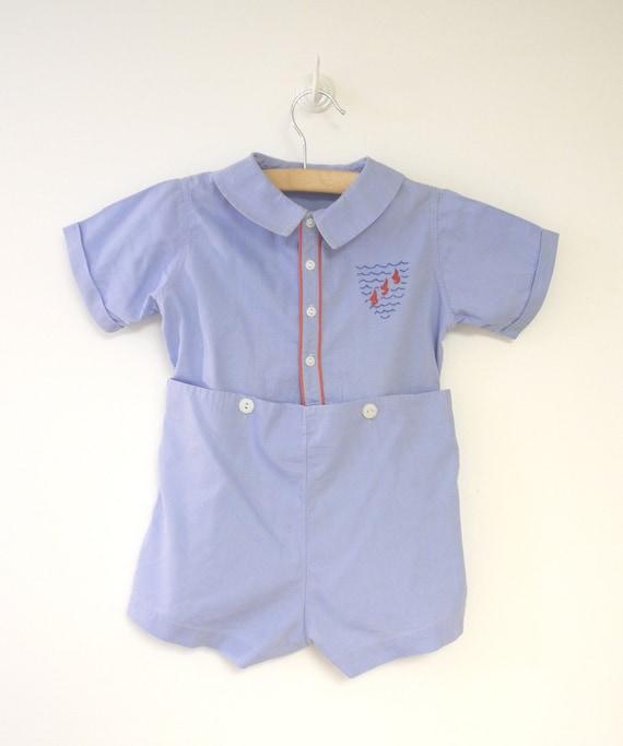 1950's Baby Clothes Vintage Baby Boy Shirt Feltman Bros  |1950 Baby Stuff