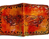 Finely Crafted Celtic-Irish Wolf Wallet - Holds 8 Credit Cards, 1 Bill Compartment,Celtic Gift,Girlfriend Gift,Boyfriend Gift,Wolf Gift