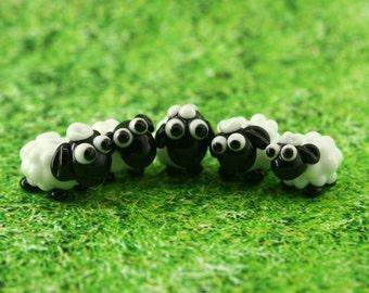 Sheep Lampwork  bead/sculpture / miniature / figurine