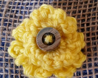 Crochet Ruffle Flower, embellishment PDF PATTERN