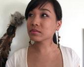 Asymetrical Vintage chain earrings OOAK