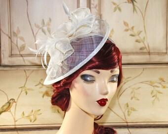 Ivory Fascinator Hat - Cream Kentucky Derby Hat - British Tea Party Fascinator - Church Hat - Wedding Fascinator Hat