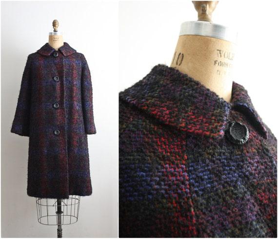 50s Al Levy's Boucle Swing Coat. Winter coat. Long coat. 1950 Coat. Size M/L