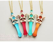 CHOOSE ONE Star Power Stick Acrylic Necklace or Phone Strap Sailor Moon Inspired for Mahou Kei Fans