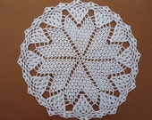 """White crochet doily , 10 """""""