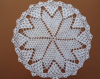 White crochet doily , 10 ""