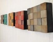 Modern MIni Wood Block Minimalist Art Set - Multi-Colored