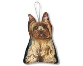 Yorkshire Terrier Ornament - Small Yorkie Dog Pillow