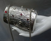 RODO Italy Silver-tone w/faux Cabochon Metal Evening Purse  Reserved