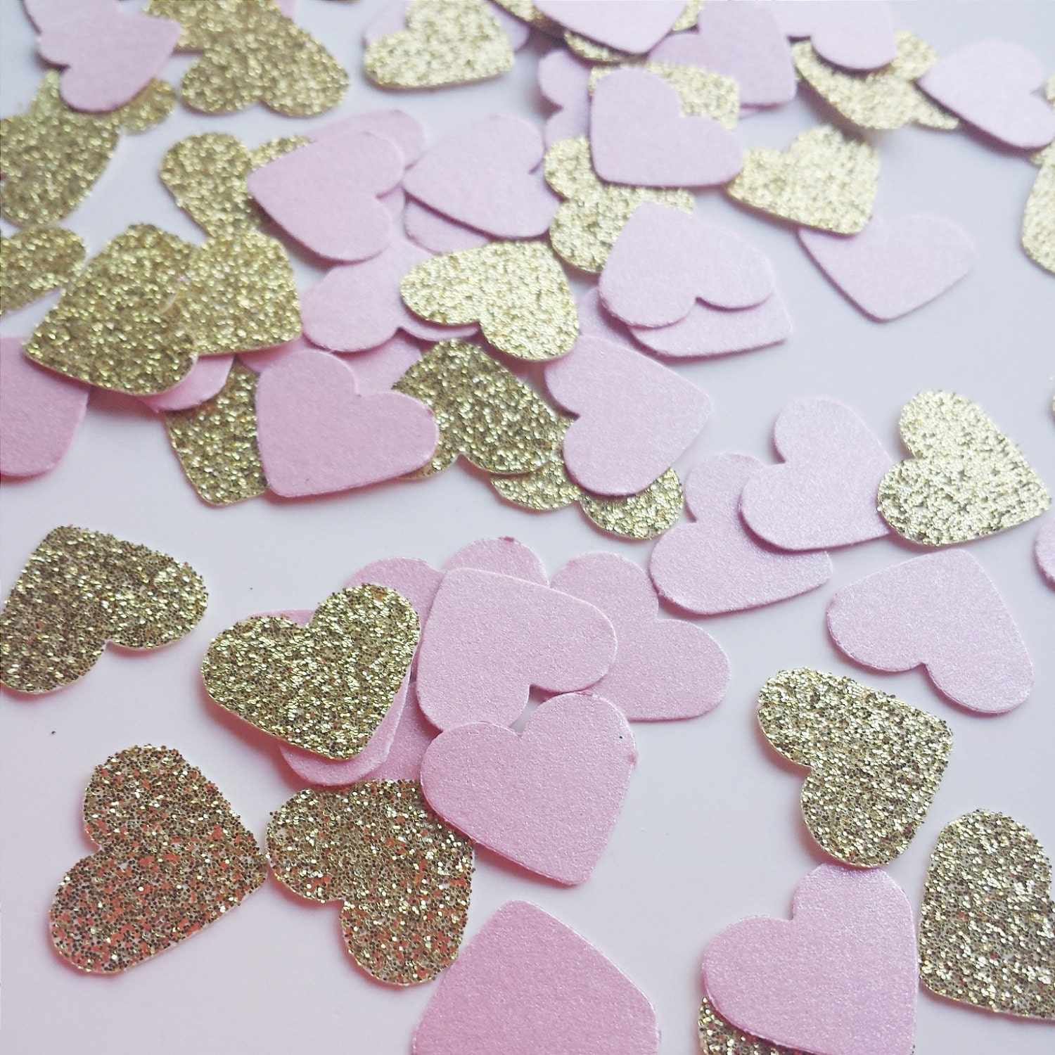 Gold And Pink Confetti   Blush Pink   Baby Shower   Wedding Decor   Bridal  Shower   Wedding Decor   Pink And Gold Baby Shower Decorations