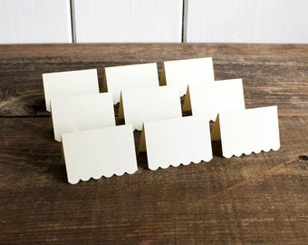 ivory place cards for wedding, shower, party set of 100 - delaney