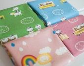 Puti De Pome Canvas Fabric Bundle -  Half Yard Bundle - 4 half yard pieces (B313)