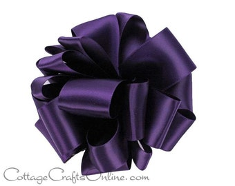 """CLEARANCE! Satin Ribbon 5/8"""" width, Purple Double Face Satin - 100 YARD Roll - Offray, """"Grappa #476"""" Wedding Double Sided Satin Ribbon"""
