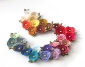 Rose Felt Flower Clip // CHOOSE ONE COLOR