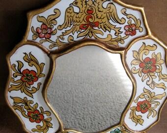 Decorative Art Mirror Made In Peru Birds and Flowers