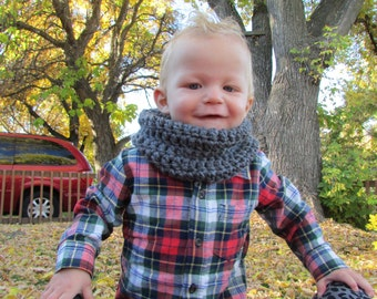 Toddler Infinity Scarf Charcoal