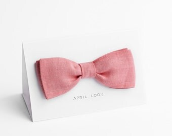 Pink bow tie, men's tie, wedding bow tie, MADE TO ORDER