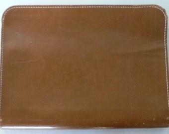 vintage portfolio leather split cowhide zipper attache Converto-Binder from Diz Has Neat Stuff