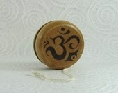 Wood Yo-Yo - Ohm Yoga - Pyrography - BKInspired