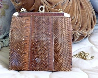 1940's Genuine Snake Purse Made in England