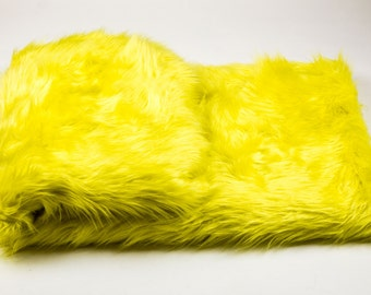 Yellow Faux Fur Etsy