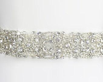 Sale crystal bridal sash belt , wedding sash belt , crystal rhinestone belt sash