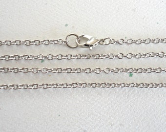 Cable Chain Necklace  Antiqued Silver Finish - 1 Piece (CCN-1)