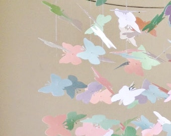 Pretty in Pastels Butterfly Mobile / / /  Nursery Decor, Photo Prop, Baby Shower Gift, Crib Mobile