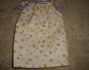 Gold Dot PillowCase Dress for an 18 inch Doll