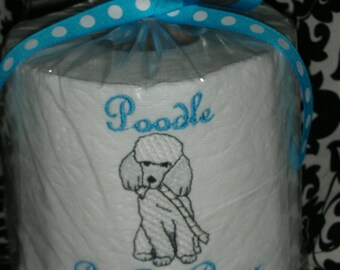 "Poodle ""Poo Poo Paper"" Toilet Paper - For the dog lover who has everything... Great Gift"