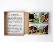 Bilder Domino, Animal Dominos, Victorian Era German card game, animal lover delight