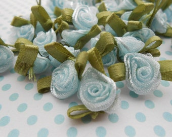 Roses Organza Pale Blue 20 pcs.