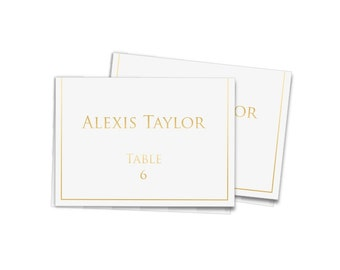Personalized Gold Foil Place Cards - Set of 25