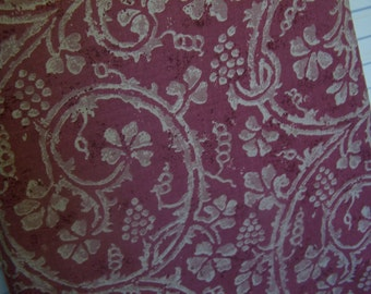 FREE SHIPPING Ironing Board Cover Rosy Rust Grape Design (no. 1)